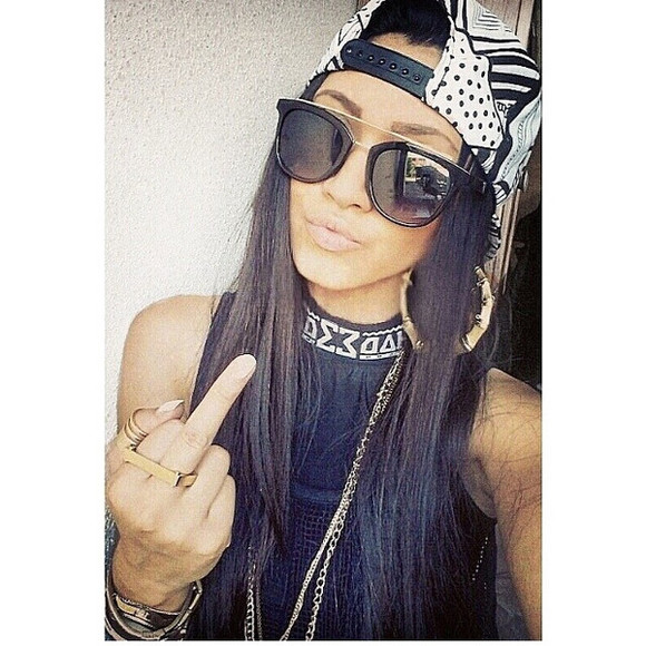jewels sunglasses girl hoop earrings earrings snapback gorgeous streetwear streetfashion streetstyle