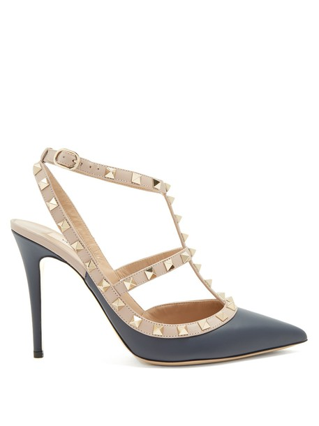 Valentino pumps leather navy shoes