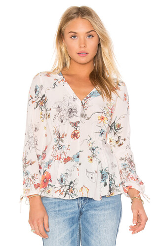 top floral top long floral pink