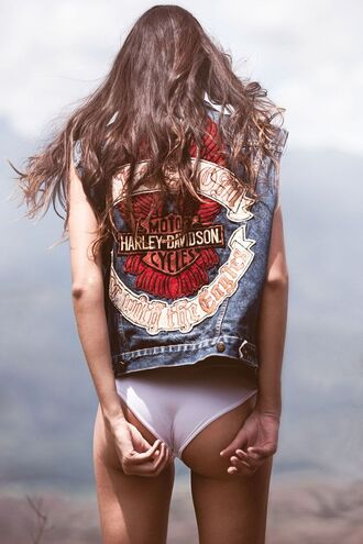 jacket denim vest top