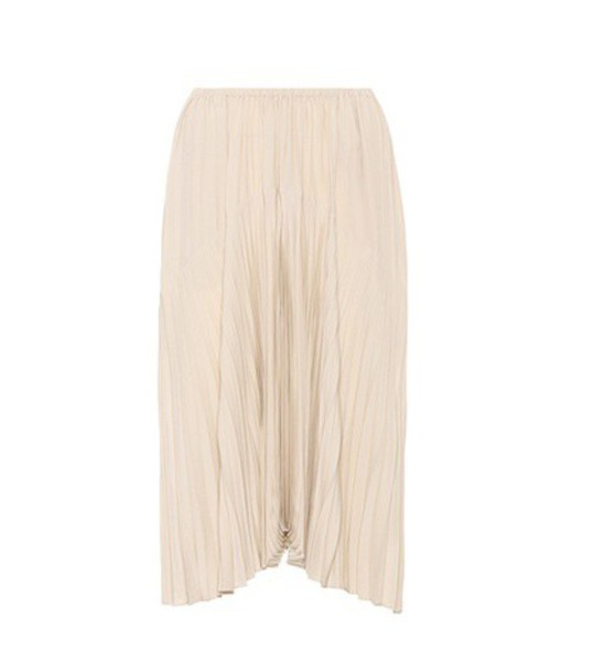 Vince skirt pleated skirt pleated beige