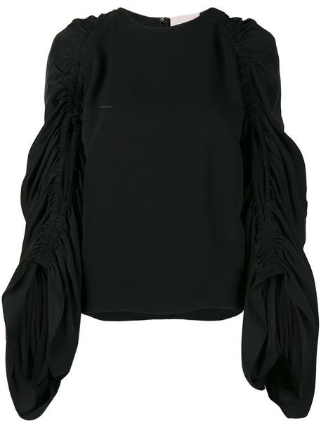 Roksanda blouse women black silk top