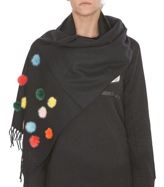 Fendi fur scarf fur scarf black