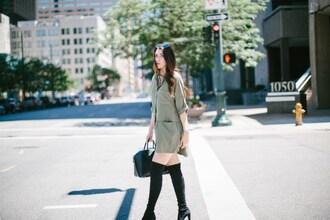 themiddlecloset blogger dress shoes bag handbag givenchy bag shirt dress over the knee boots