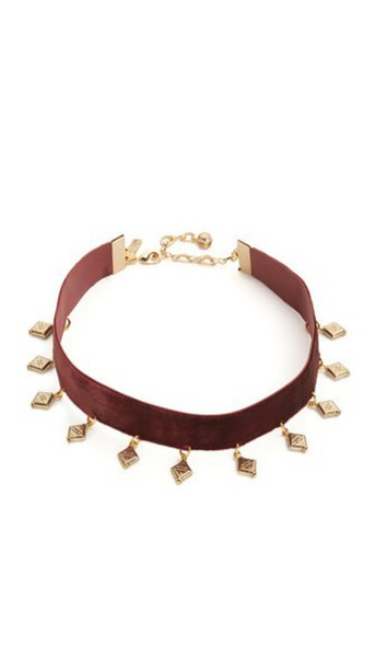 Vanessa Mooney The Sofia Choker Necklace - Plum/Gold