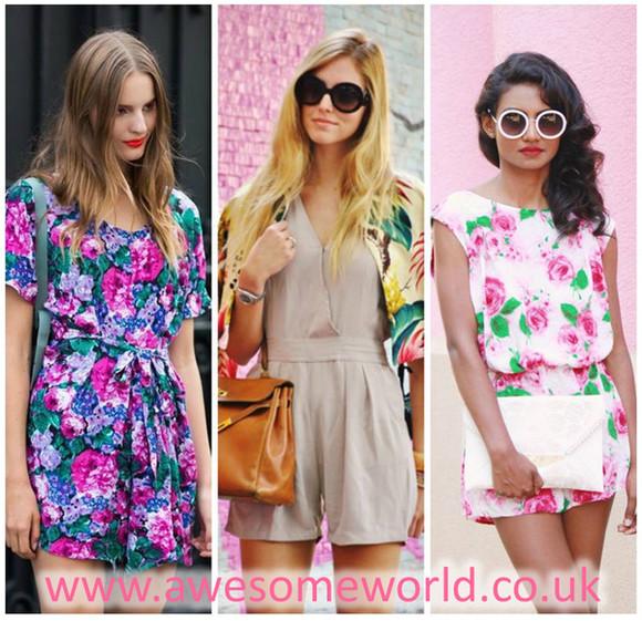 floral sunglasses jumpsuit romper cartier michael kors dress new chanel dior bangle blogger trend bag miley cyrus
