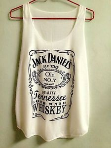 T-shirt Jack Daniels Tennessee Whiskey Tank Top Ladies Sexy Women Size S M Cream on Wanelo