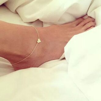 jewels anklet heart jewelry gold cute ankle jewelry heart jewelry anckle bracelet