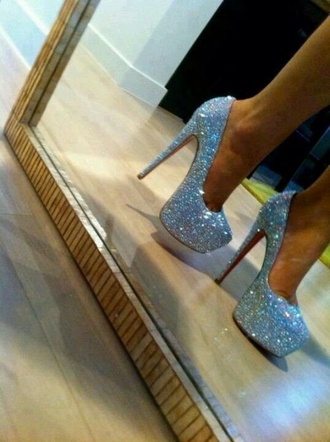 shoes prom shoes sparkly heels silver heels high heels prom