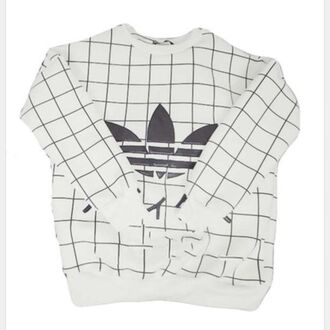 japanese fashion adidas grid pullover