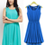 Green/Blue Knee Length Chiffon Sheath Pleated Dress : KissChic.com