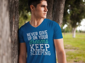 shirt blue shirt summer never give up blue blue top dreamcatcher sleep sleeping