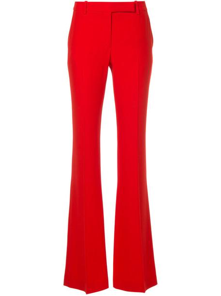 Alexander Mcqueen women red pants