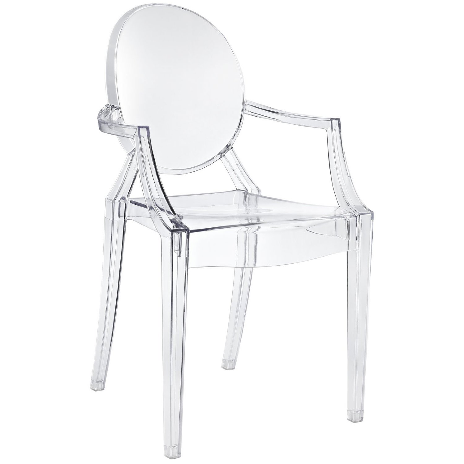 Amazon com casper dining armchair in clear dining chairs