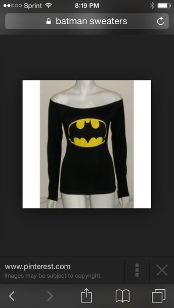 shirt it's black with the batman symbol and falls off both shoulders