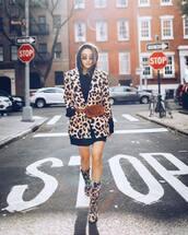 jacket,blazer,leopard print,hoodie,sweater dress,belt bag,ankle boots,sunglasses
