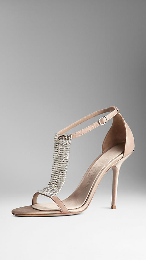 Crystal-Embellished Sandals | Burberry