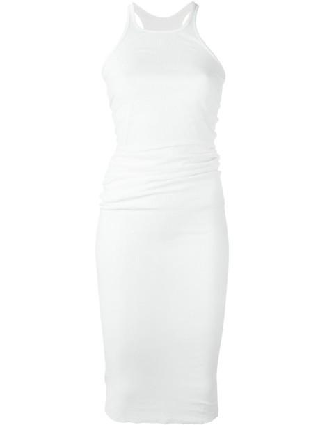 Rick Owens dress midi dress women midi nude silk