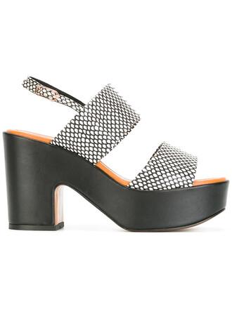 women sandals platform sandals leather black shoes