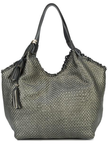 Henry Beguelin women bag shoulder bag leather grey metallic