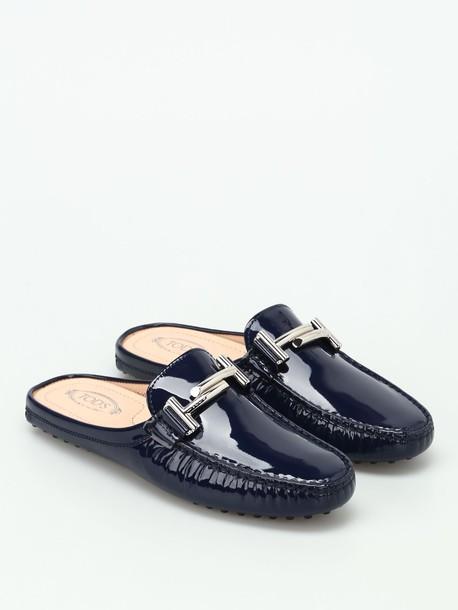 Tods slippers dark blue dark blue shoes