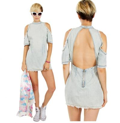 Denim down dress · trendyish · online store powered by storenvy