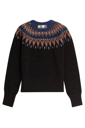 pullover wool black sweater