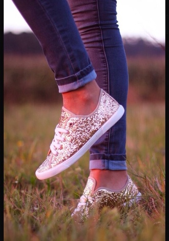 shoes gold glitter gold glitter tennis shoes flats shiny shiny shoes lace up