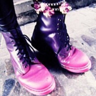 shoes purple pink ombre boots flat boots