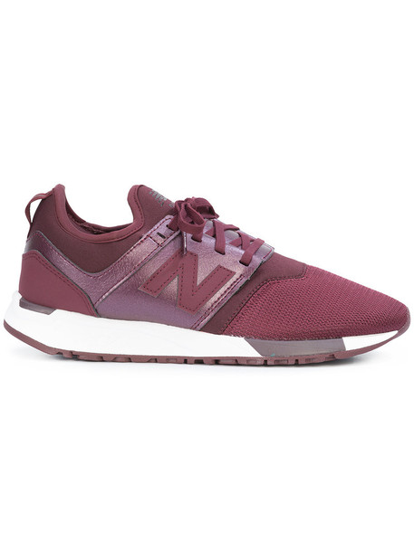 New Balance women classic sneakers leather red shoes