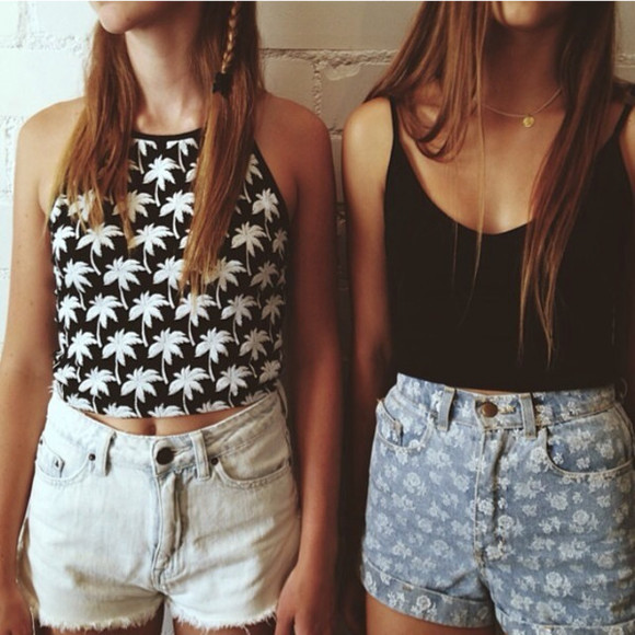black and white crop tops black white pattern