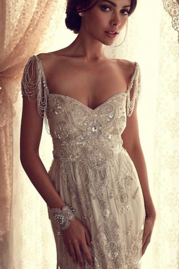 dress white dress long prom dress prom dress prom lace dress bodycon dress summer dress anna campbell beaded champagne gatsby gatsby dress beaded dress beautiful