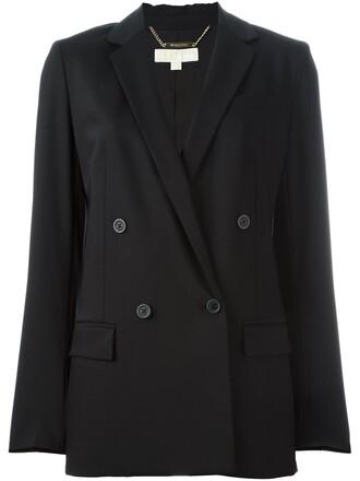 jacket double breasted women spandex black wool