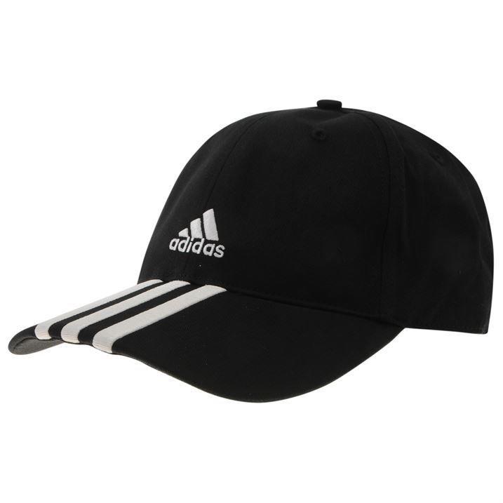 Adidas essential 3 stripe cap mens 100% cotton size 58cm 22 3/4inch