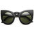 Designer Inspired Large Round Circle Pointed Cat Eye Sunglasses 9180 on Wanelo
