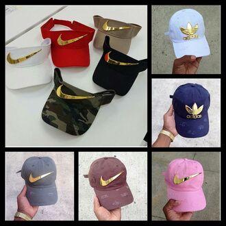 hat nike adidas cap visor navy nike visor baseball cap white red camouflage beige black pink gold custom