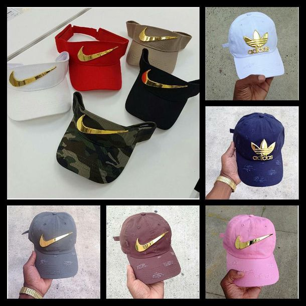 dc5d59b0379 hat nike adidas cap visor navy nike visor baseball cap white red camouflage  beige black pink