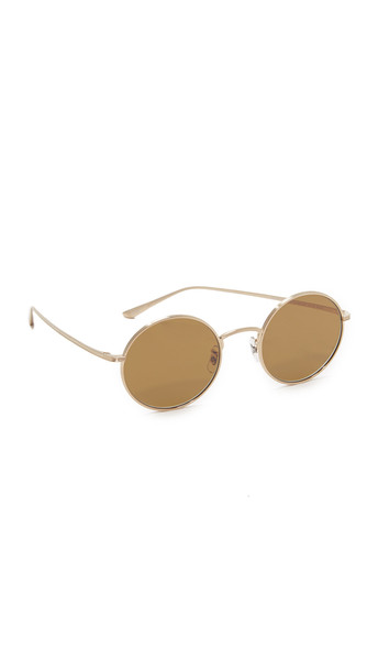 Oliver Peoples The Row After Midnight Sunglasses - Brushed Gold/Brown