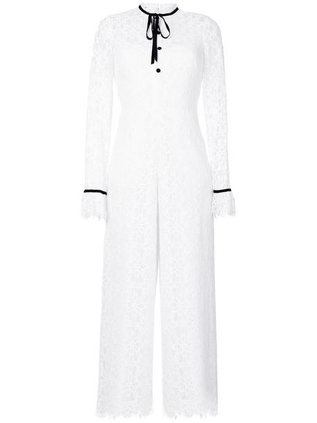 Temperley London jumpsuit women lace white cotton
