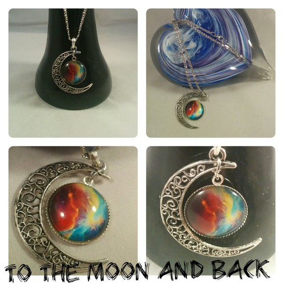 jewels nebula space galaxy print star moon