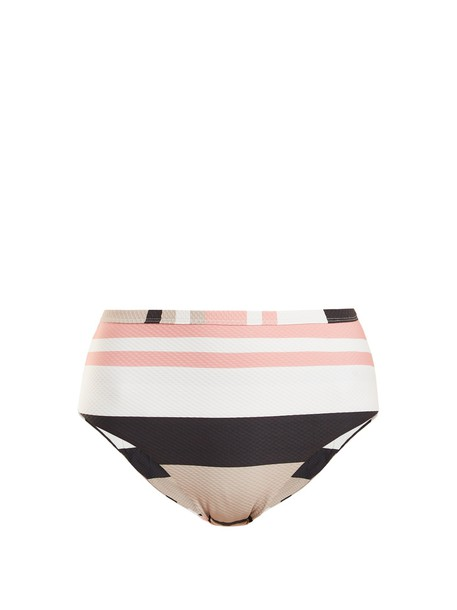 Asceno bikini striped bikini high cream swimwear
