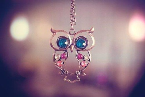 necklace jewels owl