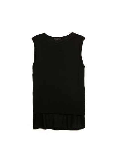 asymmetric tencel t-shirt