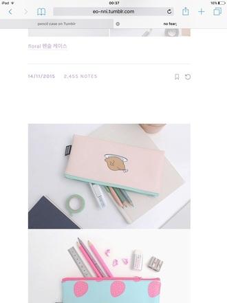 home accessory pencil case pastel