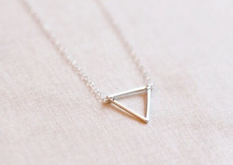 jewels triangle necklace