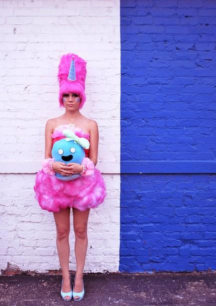 Dress Adventure Time Cotton Candy Princess Wig