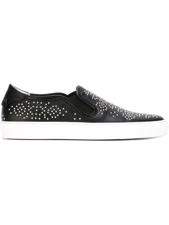 studded sneakers black shoes