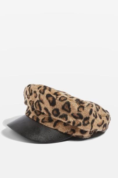 Topshop hat print leopard print