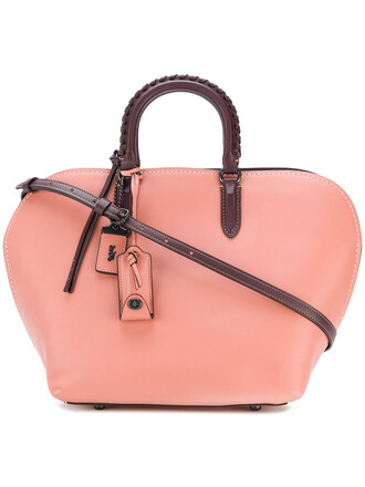satchel women bag satchel bag leather purple pink