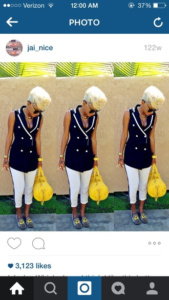 skirt white pants jainice jai nice studded loafers short hair blonde hair pants shoes